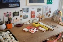 my desk / Melinda Beck, art, process, illustration