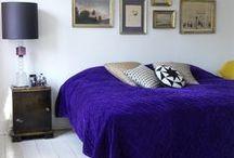 """BedRoom / """"Je caresse la chambre des yeux, le lit, les tapis et les murs bleus..."""" Brigitte Fontaine pour Vanessa Paradis"""