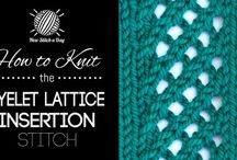 How to Crochet & Knitting / New stitch a day