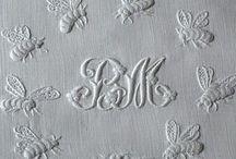 Monograms. / White Embroidery: Monograms