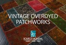 Overdyed Vintage Patchworks / We hold a huge variety of vintage patchworks in stock! Each patchwork is a testament to the artisan producers who have an amazing talent for bringing together pieces of the past into a cohesive whole for the modern day home.