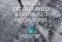 Vintage Decolourised Patchworks / We hold a huge variety of vintage patchworks in stock! Each patchwork is a testament to the artisan producers who have an amazing talent for bringing together pieces of the past into a cohesive whole for the modern day home.