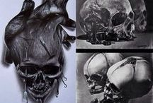 Skulls and Skeletons / I am obsessed with skulls and skeletons so here's a board full  / by Sydney Screamer