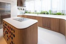 """Home: Kitchen / Ideas for our next kitchen;  as we continue to pin, we will likely create separate boards for focus areas, ie separate boards titled """"Hood n Hob"""", """"Kitchen Appliances Cabinet"""", """"Counter . Divider"""", """"Glass Cabinets"""", """"Organization . Dishes, Spices and All"""""""