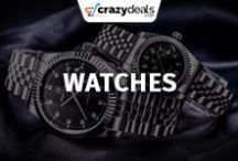 Watches - Crazydeals / Add some glamour and shiny look to your wrist. Check out our best deals of watches that match your style