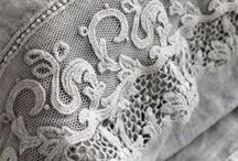 Fabric and lace / Treasures of beautiful fabric and lace new and antique.