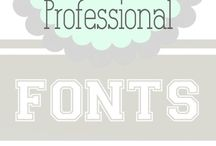 Free fonts / Always check out of fonts really are free! And / or free for commercial use if necessary !