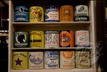 Oyster Containers / A collection of the various types of vintage oyster containers / by Charles Kelly