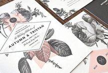 [ WEDDING INVITES DESIGN ] / Inspiration for the wedding invite designs to come