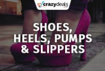 Men & Women Footwear : Shoes, Heels, Pumps and Slippers - Crazydeals / Fashion freak? Glam up your style by wearing fascinating and trendy designs of shoes, heels, pump and slippers. Take a look at our board for Crazydeals.