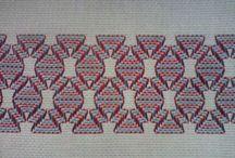 Huck Embroidery / Swedish Weaving / Huck Embroidery / Punto Yugoslavo / Swedish Weaving / Bordado Vagonite