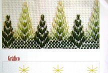 Huck Embroidery / Swedish Weaving. / Huck Embroidery / Punto Yugoslavo / Swedish Weaving / Bordado Vagonite