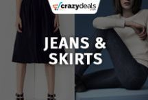Womens Clothing : Jeans, Skirts - Crazydeals / Are you in the market and searching trendy jeans and skirts? Crazydeals board brings you the latest deals and biggest savings experience!