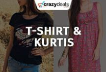 Women Clothing : T-Shirt- Kurtis - Crazydeals / Looking for classy and designer t-shirts of this season? Crazydeals T-shirt - Kurtis board will give the finishing touch to your outfit