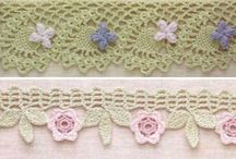 Crochet edgings. / Many crochet edgings. To finish your work in a beautiful way!