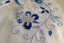 Bordados de punto mallorquin. / Embroidery from Mallorca, Spain