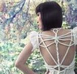 ROHMY Couture: Wedding Dresses / Handmade wedding and evening gowns by ROHMY Couture in light colours. Styled shoots, commissioned pieces, work in progress and customer photos <3