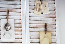 Behind ʂђuʈʈεɾʂ ♔ / VinTagE Shutters / Persiennes & doors repurposed into decoration