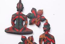 my p-clay Buddha pendants / polymer clay creations