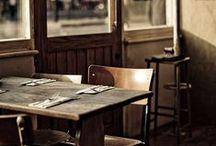 café, restaurants, stores
