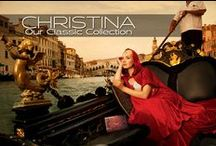 """CHRISTINA - Our Classic Collection / The Christina is our medium size handbag and comes with a 59"""" chain. This bag may be worn as cross body, double shoulder chain or clutch. Dimensions: Closed: 9.24"""" x 7"""" Open: 9.24"""" x 19.5"""" Handmade in Italy."""