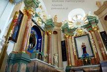 Kaplica w XVI w. renesansowo-barokowym kościele. / Unikalne stiukowe marmoryzacje mojego autorstwa.Adamkk