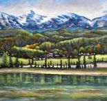 Paintings of Mountains and Waters / Landscape paintings that depict mountains and waters.