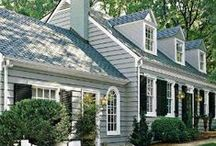 Home Sweet Home / A small, charming cottage for downsizing with an English garden.  / by Phyllis Shepherd