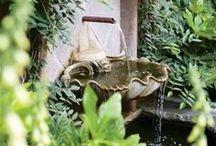 ✿ ⊱ kerti szobrok, szökőkutak