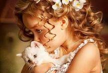 ✿ ⊱ gyerekek és állatok