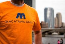 Mac Bank Swag / Macatawa Bank's logo wear and swag around town!  How are you using your Macatawa Bank swag?  Send your pictures to getsocial@macatawabank.com.