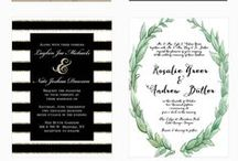 Wedding Invitation Design / Find Inspiration among these elegant and creative invitations for your wedding