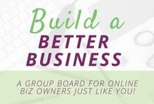 Build a Better Business / Building a business is tough work.  Building a business online when you have no idea where to start is even harder.  Follow to get help from others who have made it work.    This is a Group Board for online entrepreneurs    Interested in collaborating and joining this board as a pinner? Direct message Gabriela (migaticastudio or gardriguez) here on Pinterest and if you've got what it takes we'll shoot you an invite!