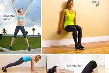 Træningsøvelser / En opslagstavle, hvor der er billeder af en masse forskellige træningsformer og øvelser