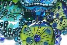 Koraliki lampwork - lampwork beads / Artystyczne przedmioty z duszą, zachwycające koraliki wykonywane ręcznie, dekoracje, najwyższej klasy rzemiosło.