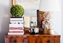 vignette + book shelf styling / PINS OF SUPER STYLISHLY STYLED SHELVES, TABLES AND  OTHER DECORATIVE CLUSTERS AROUND YOUR HOME :D