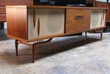 TVs & Turntables / Old television sets, vintage turntable furniture.