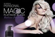 Cabellos Rubios -Blond / En Periche llega la revolución para obtener platinos, mechas y cabellos blancos con matices perfectos! Magia radiante, sin amarillos ni imperfecciones. Es el nuevo Magic Platinum Blond http://bit.ly/MagicPlatinumPeriche