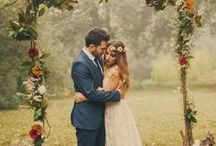 Wedding Style / Bride dress and groom suit