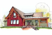 The Marshal | Timberbuilt / This timber-frame home design is simply amazing, with a white pine interior in a simple, efficient and cost-effective layout. If you want to downsize – but you still want a comfortable, sensible floor plan – The Marshal is perfect for you. Our traditional timber-frame and panels combine with natural exterior elements for the signature Timberbuilt look.   http://www.timberbuilt.com/timber-frame-home-designs/marshal/