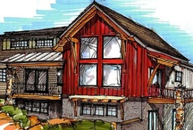 The Spring House | Timberbuilt / This timber-frame home design is another Timberbuilt favorite, offering great architectural elements both inside and out. Contemporary flair, featuring an array of reclaimed materials, gives the timber-frame Spring House its defining look.   http://www.timberbuilt.com/building_plan/timber_frame_homes_spring_house_timberbuilt/index.html