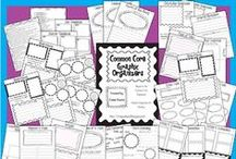 Graphic Organizers for Emerging and Beginning Readers / These pins are examples of graphic organizers to use with 3 - 7 -year-olds. Graphic organizers help readers arrange and understand new information. If you don't have access to a printer pull a few ideas and create your own!