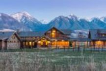 The Livingston / Timberbuilt / Gorgeous Timberbuilt Ranch in the Montana Mountains. http://www.timberbuilt.com/our_timberframe_/photos_of_timber/residential/index.html
