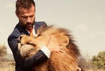 Kevin Richardson / The South African lion whisperer Kevin Richardson played soccer with lions. In a Van Gils suit. How about that? We support this hero and his wonderful work.