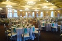 Chiavari Chairs at Celebrations / Chiavari Chairs add an elegant touch to your special day at Sand Springs Country Club- they come in white, gold, silver, or mahogany.