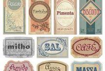 Etiquetas para dispensa / Pantry labels