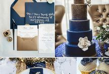 Hues of Blue Wedding Inspiration /  Blue is so versatile - it can easily be used in any wedding no matter the time of year or theme - mix with metallics, grey, dusty blues, yellow, pastel pinks, coral, white, or black