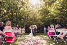 Cermony inspiration / Rustic chic wedding ideas Outdoor wedding Barn wedding