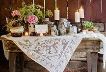 Reception inspiration / Rustic chic  Rustic elegant Rustic glam Barn outdoor wedding reception ideas / by The Barn at Cedar Grove, South Central, KY