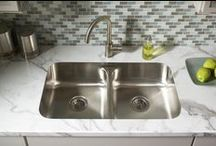 Undermount Sinks and Formica® Laminate / The beauty of the undermount sink, as shown with a variety of Formica products.